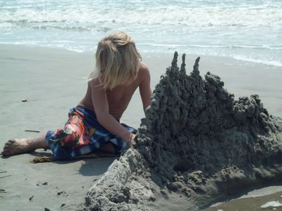 or just relax on the sand and build a sand castle with the kids.