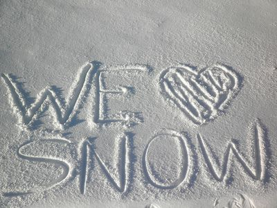 We Really Do Love Snow!