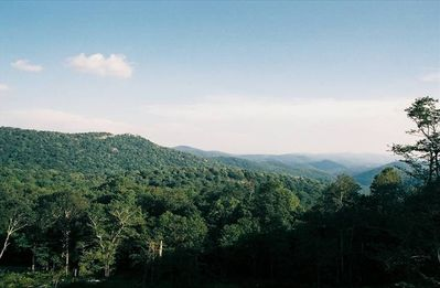 View of Grandfather Mountain and Linville Ridge