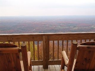 Fancy Gap cabin photo - Breathtaking Views of the Piedmont From Both Decks Year Round!