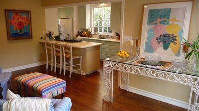 open kitchen...gateway to garden.