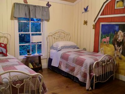 Farm theme room, both children and adults enjoy!