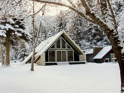 Wardner cabin rental - Winter at The Pinehurst Lodge