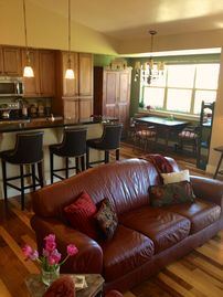 Bozeman house rental - Open View of Living Room, Dinning Room and Kitchen