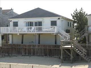 South Bethany Beach house photo - Our house with plenty of deck & lounge chairs (and tables).