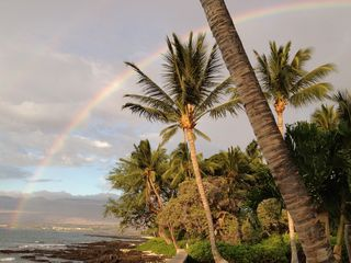 Puako house photo - Rainbow view from property. You might experience your own....