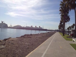 Naples house photo - The bike path at Shoreline Village looking toward The Queen Mary.