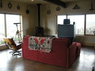 "Taos house photo - Study with Large Television (now a 53"" flatscreen), and Queen Sleeper Sofa."