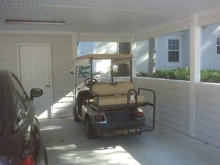 Port Royal villa photo - Carport with Golf Cart