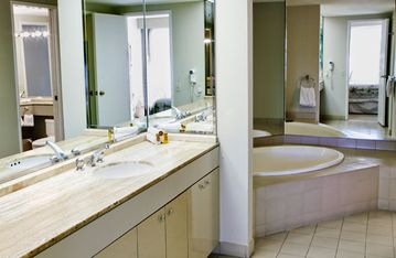 Walk-In Bathroom of a One Bedroom Unit at the Marquis Villas Resort
