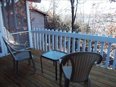 Deck and view off of first guest bedroom