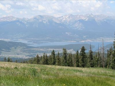 View of Lake Dillon from top of Keystone