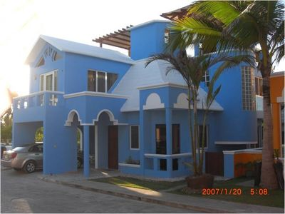 Cabarete villa rental - View of the front of the house - June 2012