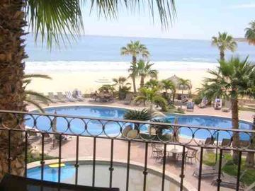 San Jose del Cabo condo rental - View of the pools from the terrace