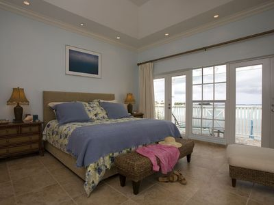 MASTER BEDROOM WITH OCEAN FRONT VIEW