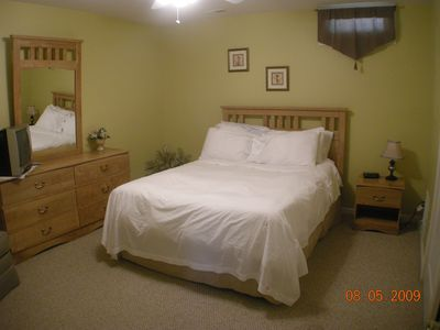 Monticello chalet rental - master bedroom