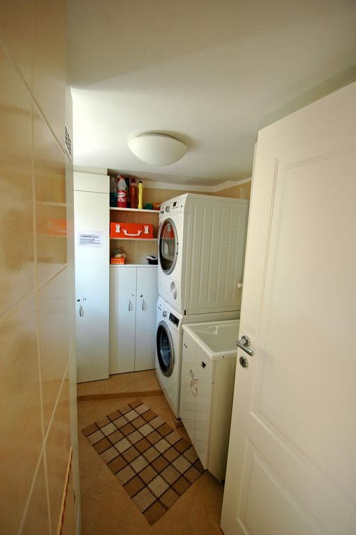 laundry with washing machine and DRYER!