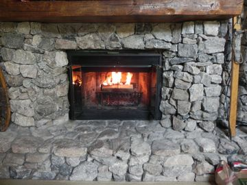 "Extremely rare ""real wood"" fireplace"