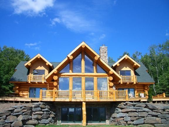 Luxury Log Home with Ski Windham views