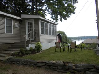 Great Island cottage photo - View of Quahog Bay from the kitchen window