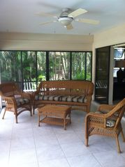 Cape Coral house photo - Seating area in lanai