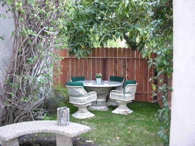 Private garden for outdoor dining