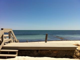 Yarmouth cottage photo - Private deck on Nantucket Sound!