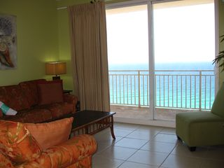 Splash Resort condo photo - Cozy living room overlooking the Gulf of Mexico