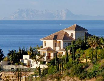 El Rosario villa rental - The villa looks to the Mediterranean, Gibraltar and Morocco beyond