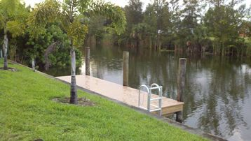 The dock is perfect for fishing, or launching a kayak