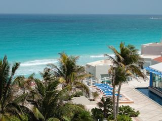 Cancun condo photo - View from common hallway outside of your unit