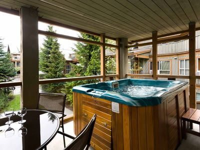 """Beautiful property in the heart of Whistler. The Private hot tub was a luxury!"""