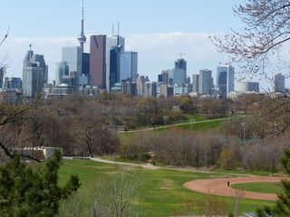 Toronto house photo - view of Toronto overlooking Riverdale Park, steps from the house