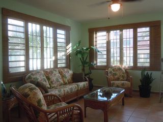 Rincon villa photo - The windows provide a terrific amount of light onto the new rattan furniture.