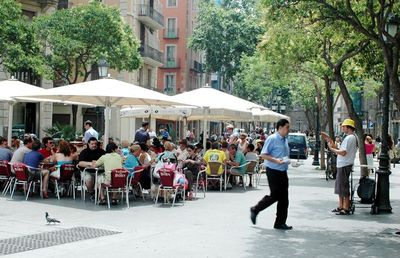 Enjoy lunch or a drink on one of the many terraces nearby and all over town