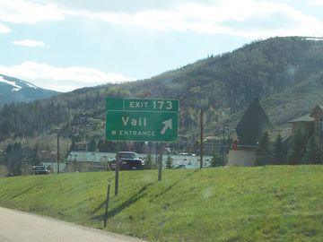 The exit number #173 to Vail Vacation house in West Vail