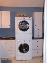 Cape May house photo - Large bathroom has stackable clothes Washer/Dryer