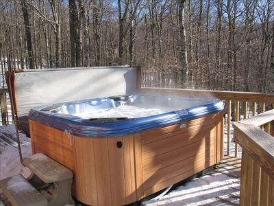 Hot Tub on Deck with Great View!!!