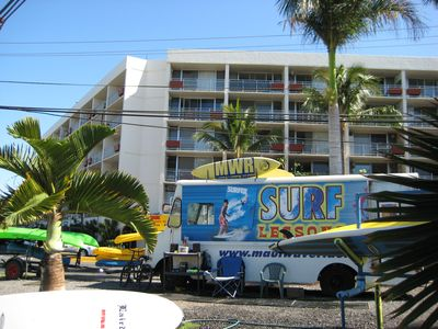 Island Surf features many great ammenities-surf school, kayak and bike rentals.