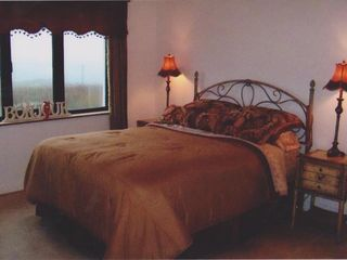 County Donegal cottage photo - Ensuite Bed 2 room is decorated in cranberries and golds