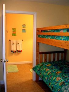 Safe & Fun Bunk room with TV/DVD for the Kids.