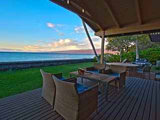 Puako house photo - Lanai-outside lounging:The Ocean and Kohala Mtn on display as the day winds down