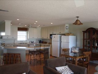 Sunnyside house photo - Large Kitchen with 7 Bar Stools and 2 Fridges for the Drinks.