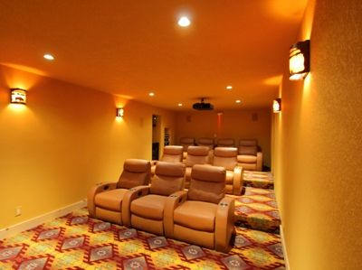 Timber Lodge Home Theater room seating for 10 (Optional $50/nt)