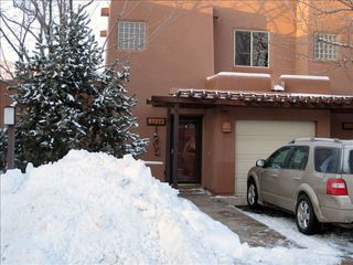 Moab condo photo - January 2010. An unusual amount of snow