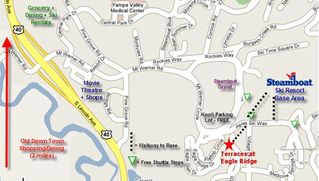 Steamboat Springs condo photo - Map of Area Surrounding the Terraces