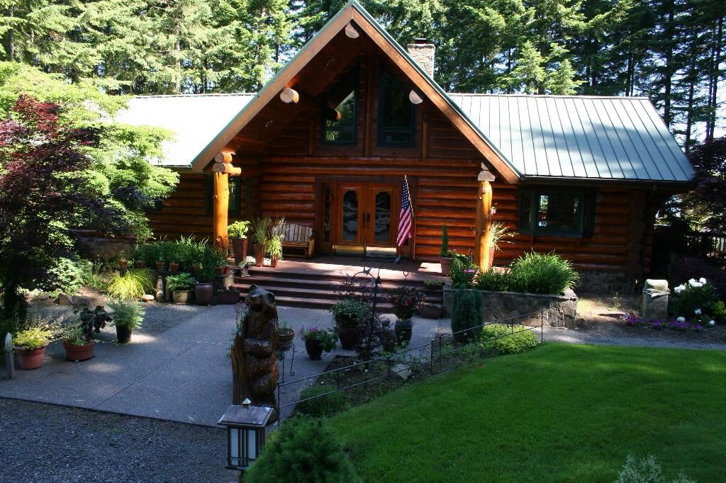 Cabin Log Home Horse Amenties Trails Homeaway Yacolt