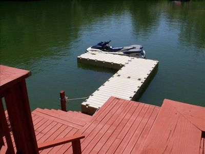 Floating dock for your boat or jet ski.