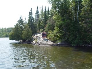 Orr cabin photo - rock ledge on lake