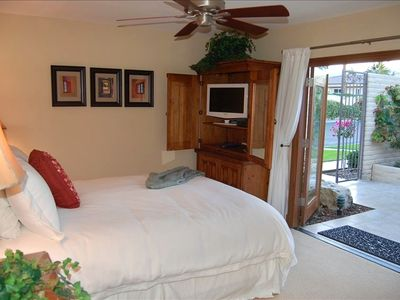 All bedrooms have a TV and are open to patios.